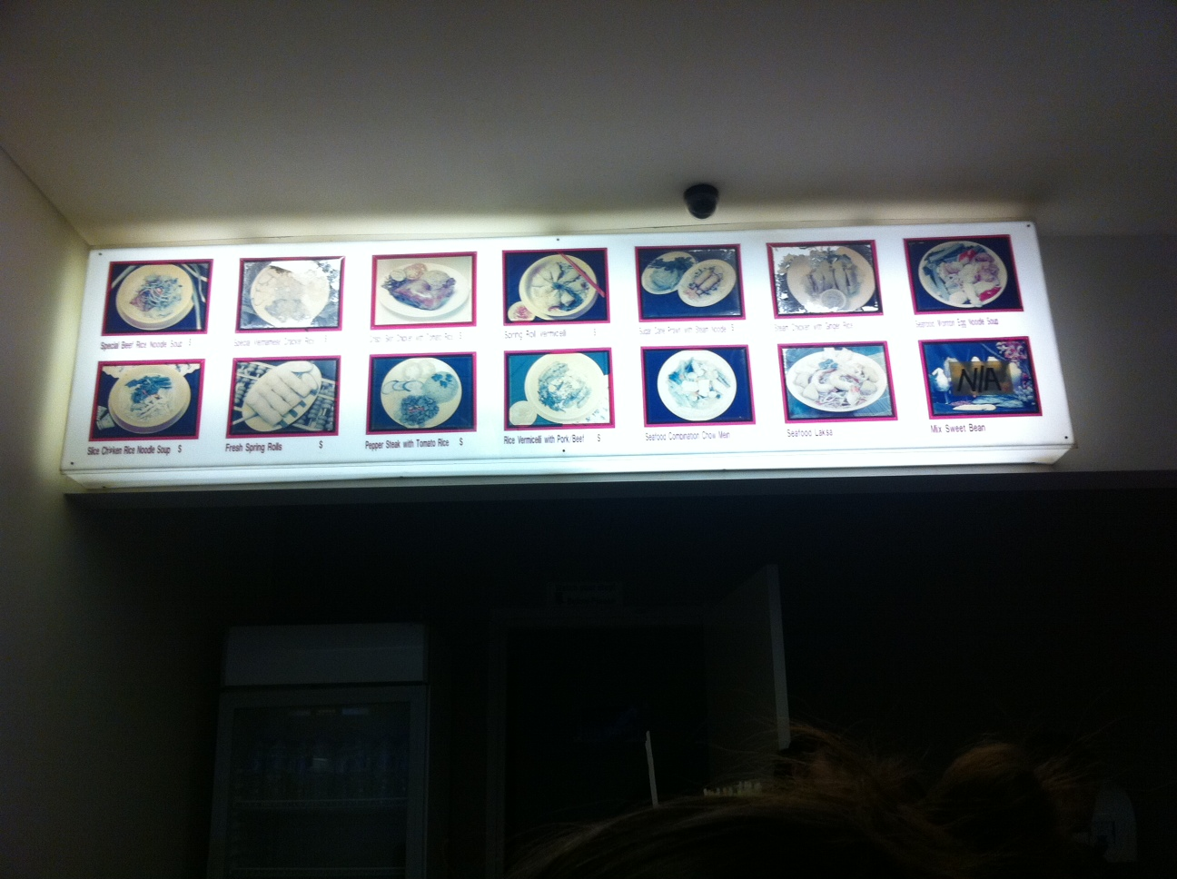 The menu board doesn't look as if it has changed this century